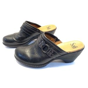 Sofft Women's Black Clogs Mules Size 6.5M